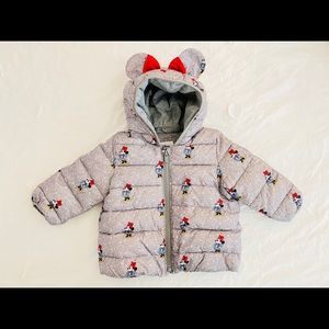 Disney Baby Gap Minnie Puffer Jacket 12-18 Months